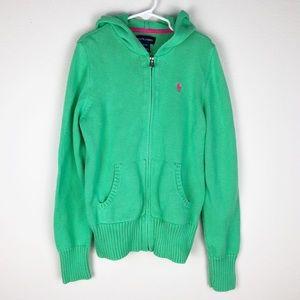 Ralph Lauren Full Zip Hood Sweater Large 12/14